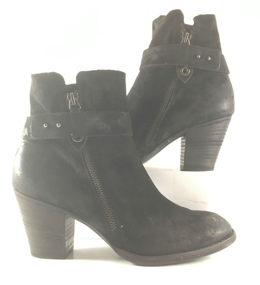 großhandel online unverwechselbares Design Genieße den kostenlosen Versand Paul Green Black Suede Leather Dallas Ankle Boots Womens ...