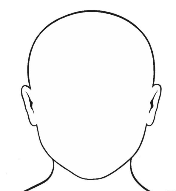 This is a graphic of Blank Face Printable intended for vector