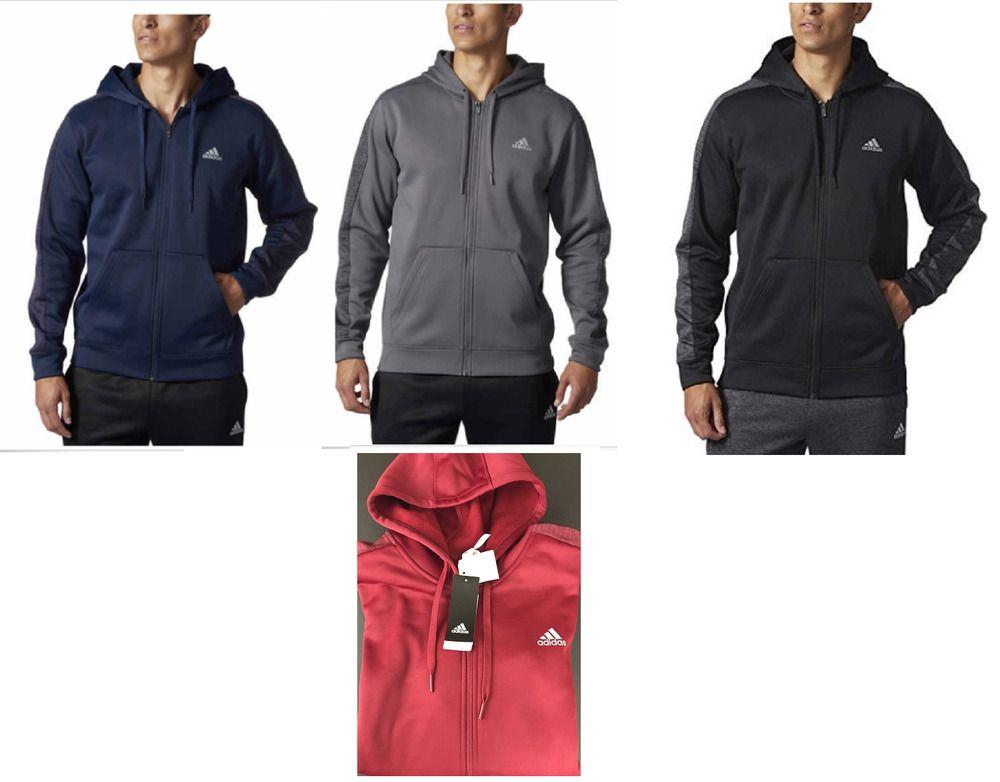 73f29c10dc82 Adidas Men s Full Zip Tech Climawarm Fleece Lined Hoodie Coats   Jackets Men s  Clothing
