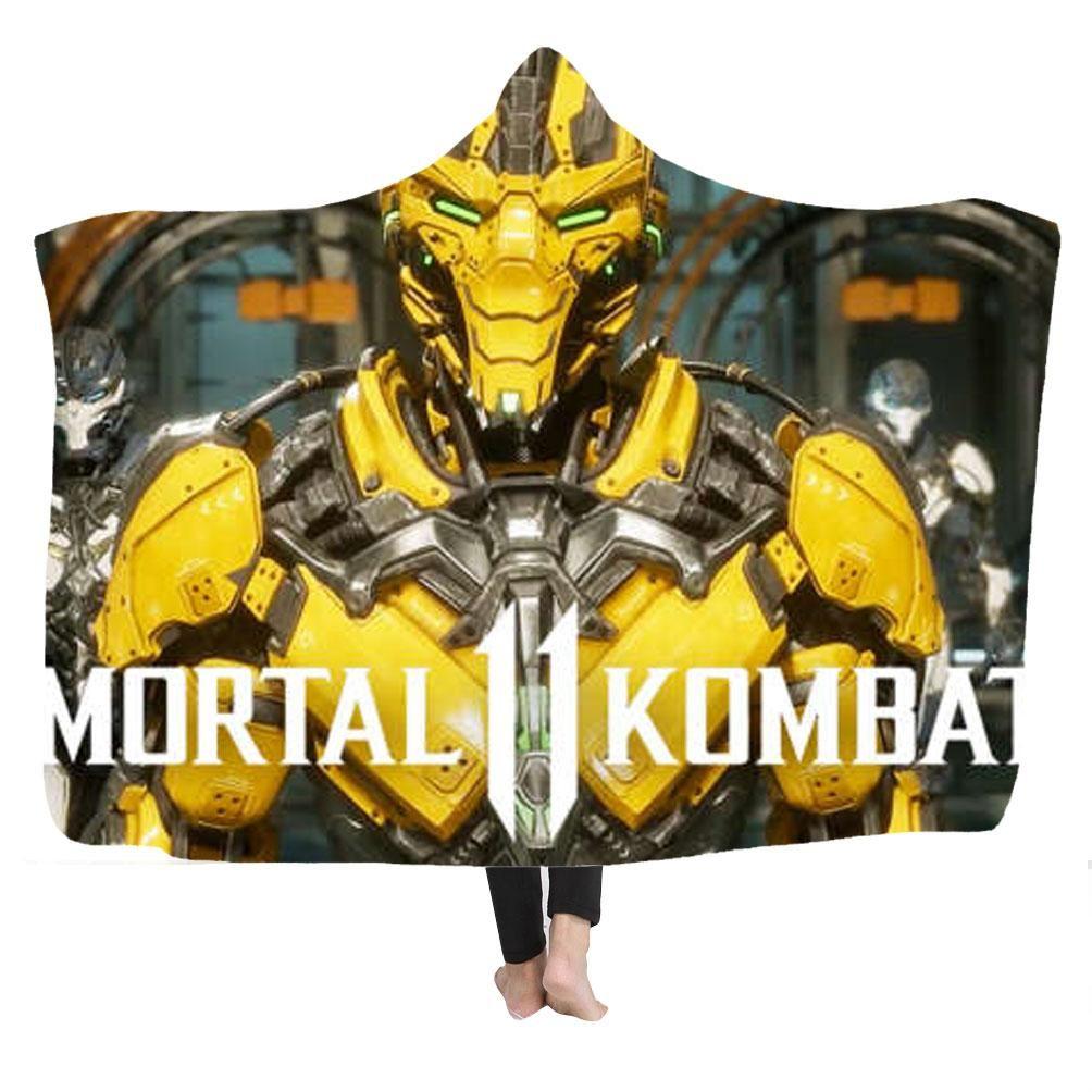 Mortal Kombat Kapuzendecke Wohndecke Kuscheldecke Sofadecke Reisedecke Decke Mit Kapuze Duffle Duffle Bag Bags