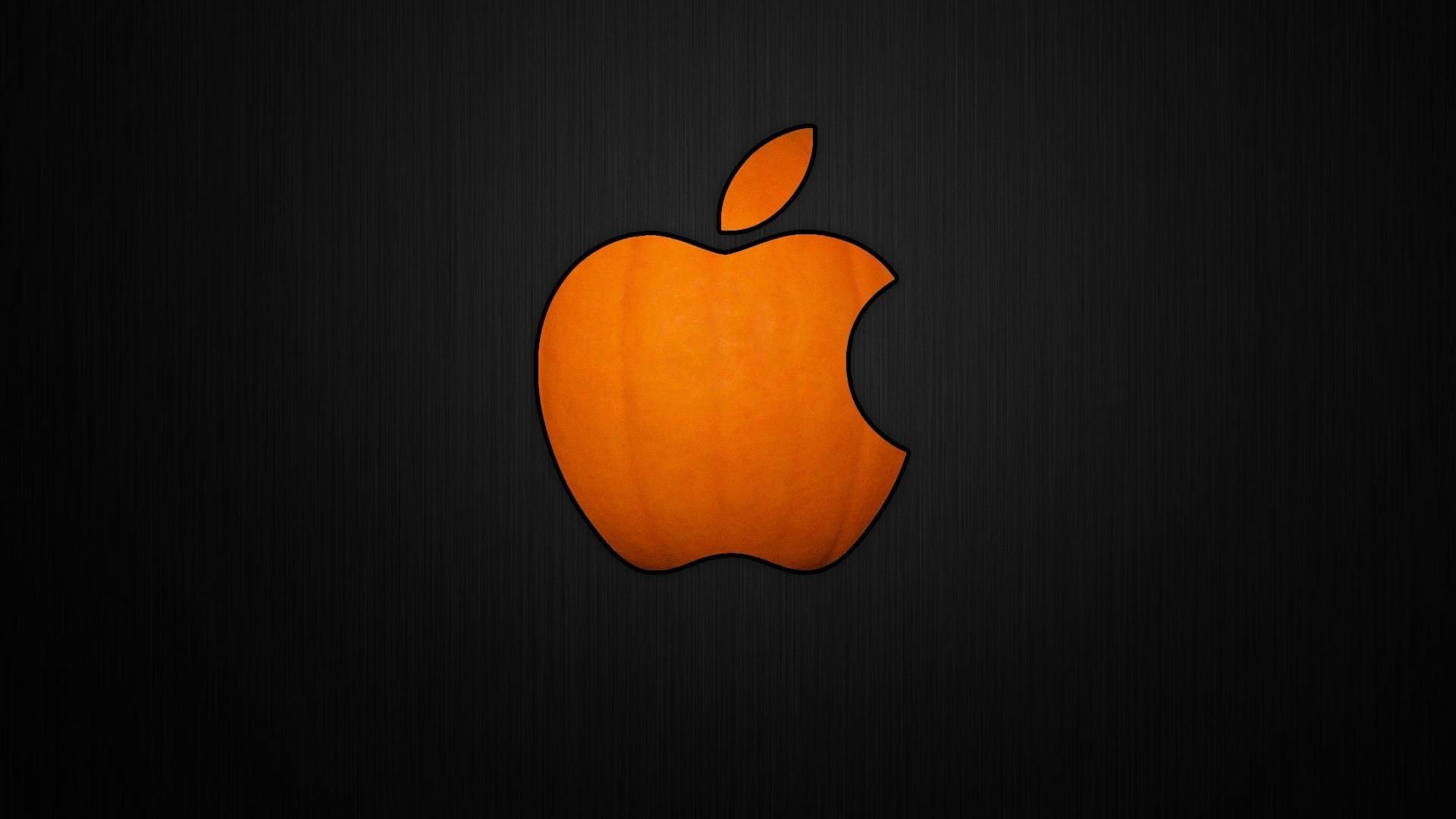 Wallpaper Apple Logo 1920x1080 Oboi Tykvy Hellouin Tykvy