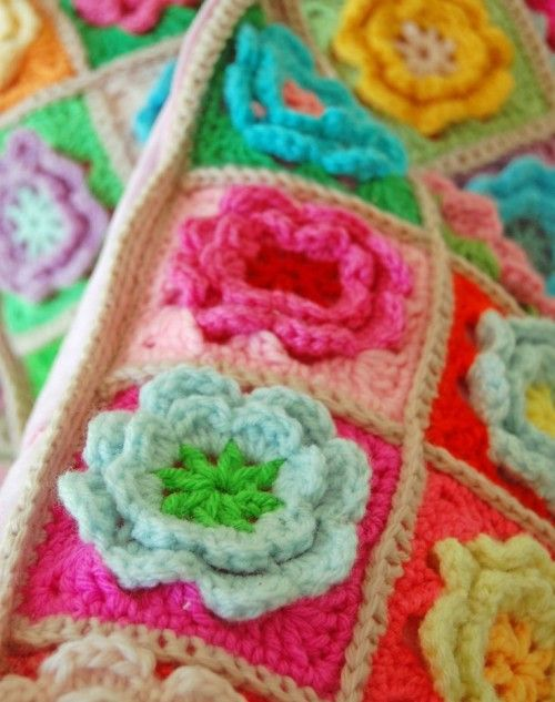 Crochet Flower Square Free Pattern Crochet Patterns And