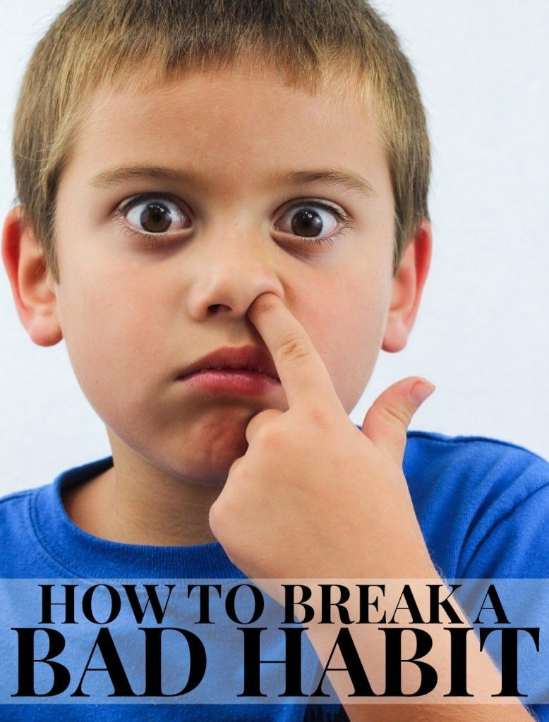 how to break bad habits in toddlers