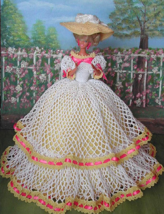 Crochet Fashion Doll Barbie Pattern- #6 MISS CHARLESTON #1 | Barbie ...