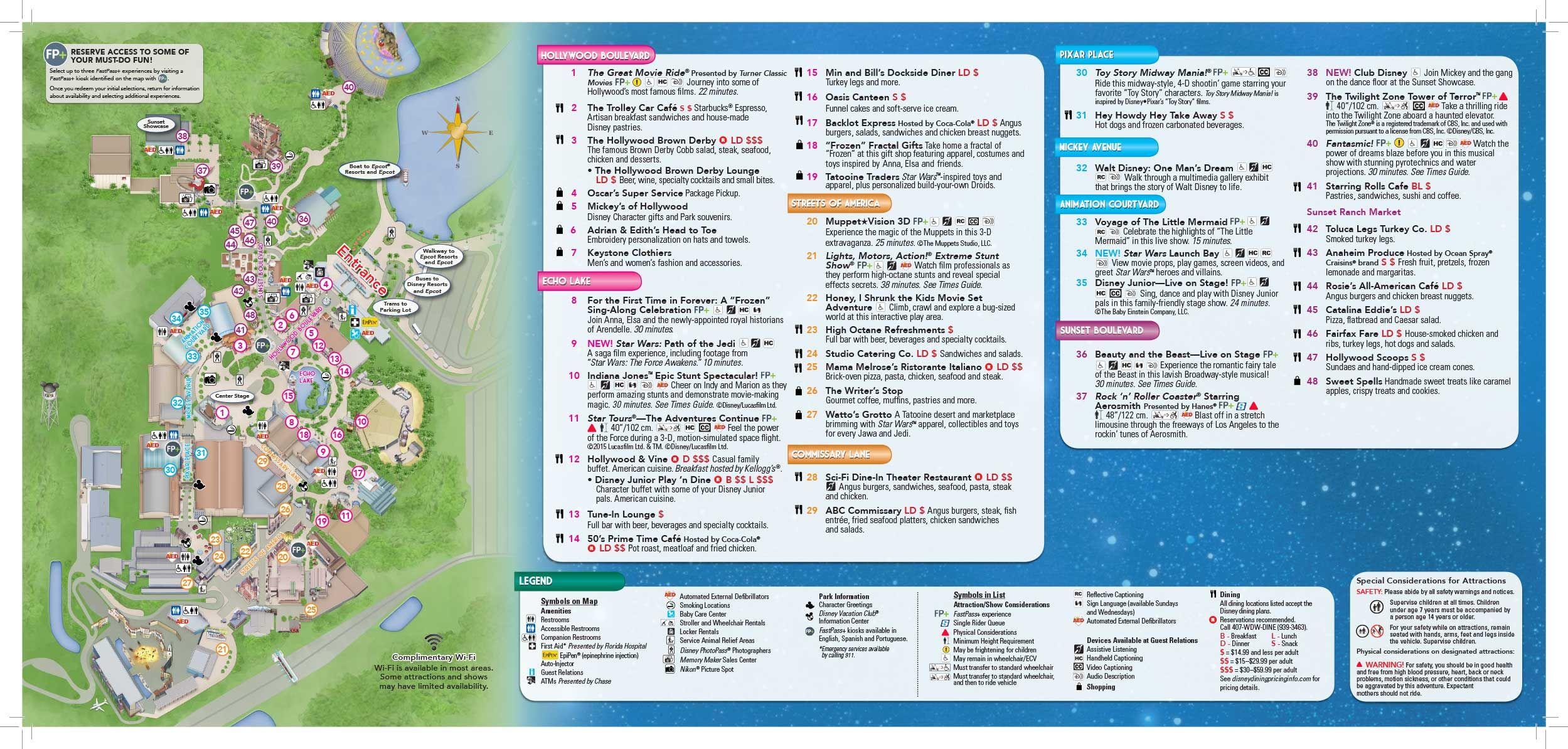 Disney Hollywood Studios map | vacation | Pinterest | Disney, Disney ...