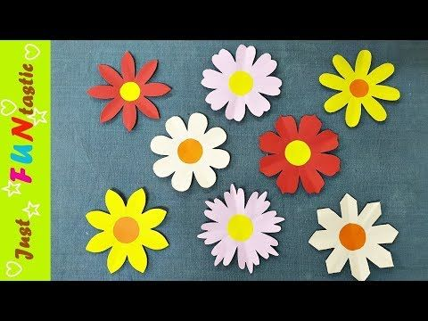 How to make a paper flower cutting