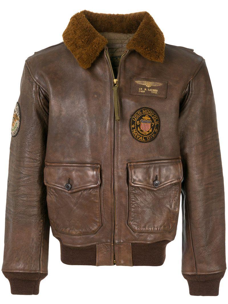 Polo Ralph Lauren Poloralphlauren Cloth Brown Jacket Men Leather Bomber Jacket Polo Ralph Lauren Leather [ 1067 x 800 Pixel ]