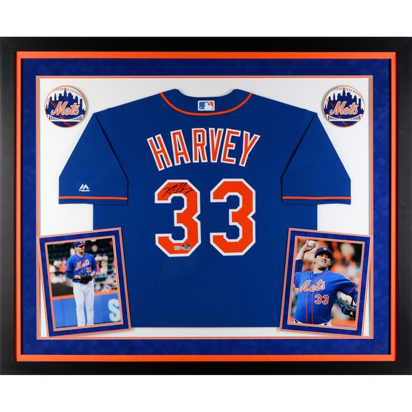 Matt Harvey New York Mets Fanatics Authentic Deluxe Framed Autographed Blue Replica Jersey - $899.99