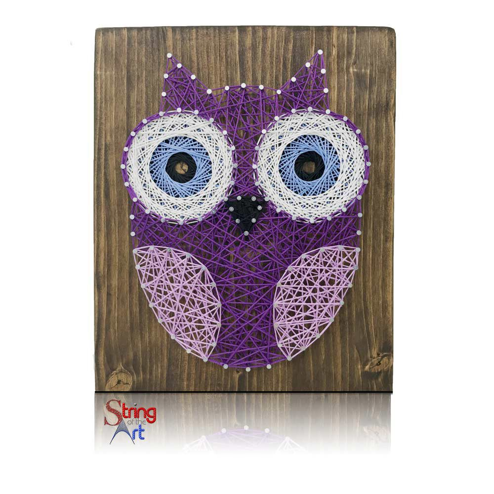 Purple Owl Mini String of the Art Kit | Nagelbilder und Fadenbilder