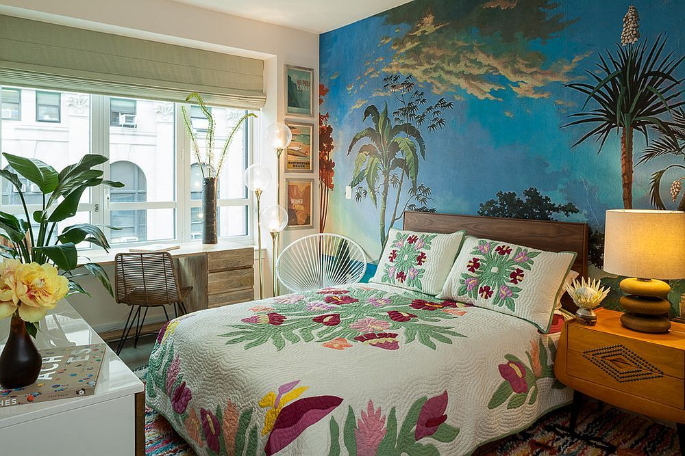 Tropical Wallpaper Ideas with Greenery and Colorful Summer