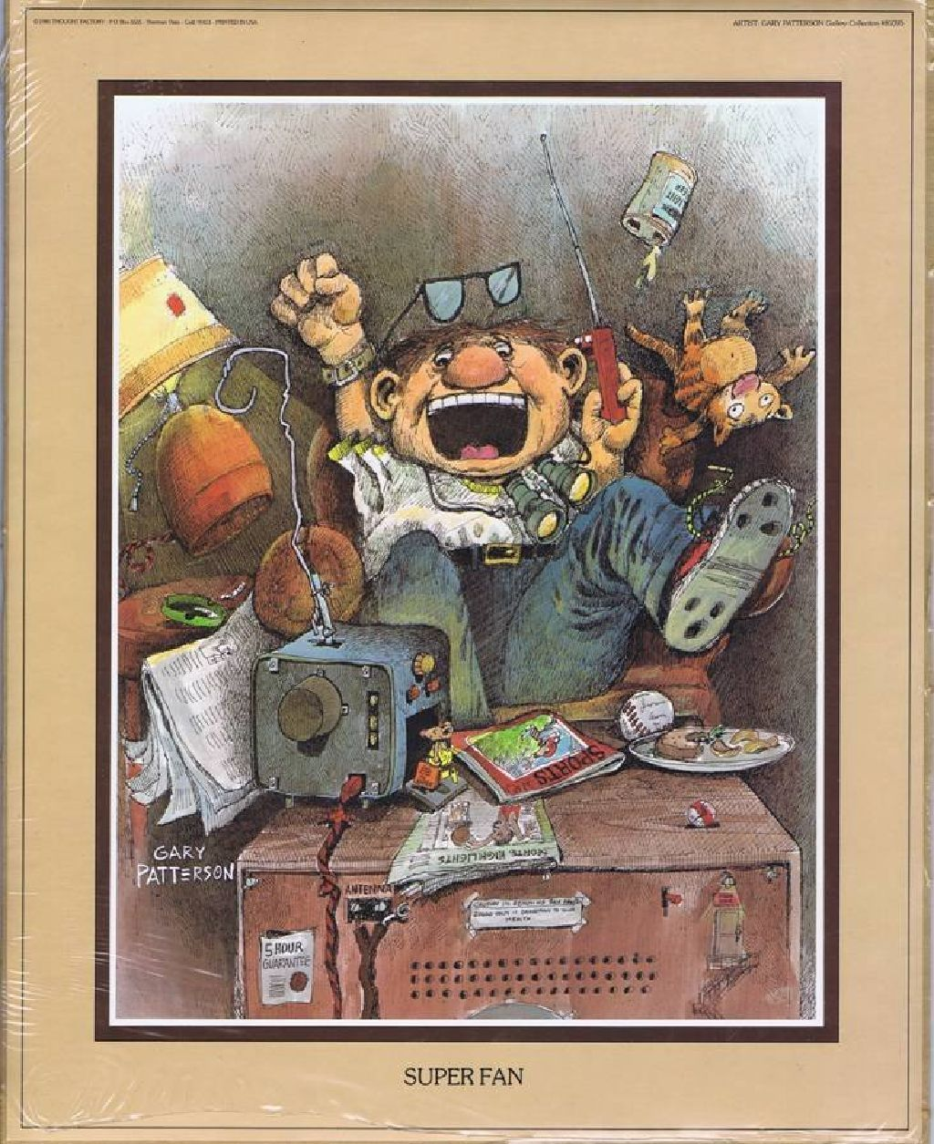 """Gary Patterson Print """"SUPER FAN"""" 1980 Thought Factory"""