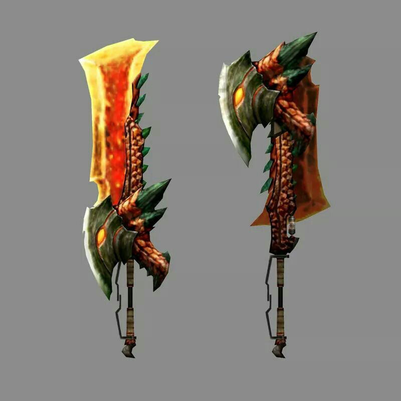 P Rathian Carapace Mh4u Rathalos switch axe, I...