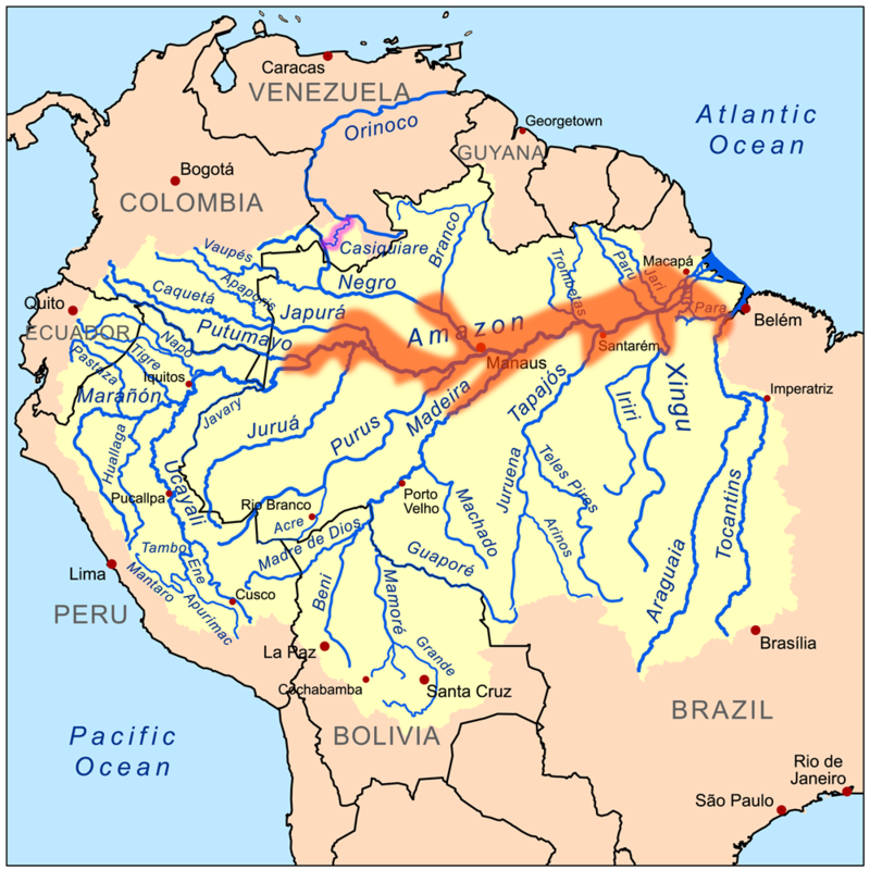Symphysodon Colloquially Known As Discus Is A Genus Of Cichlids: Map Of The Amazon River In South America At Codeve.org