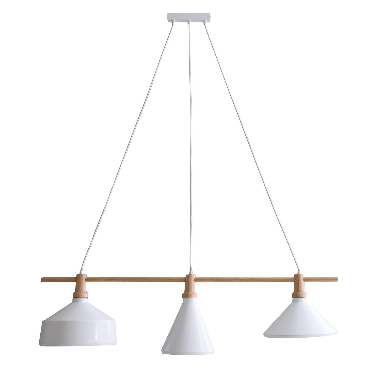 Elegant Lampe 3 Flammig Beste Wahl Pendelleuchte Odessa - Eisen / Buche Massiv