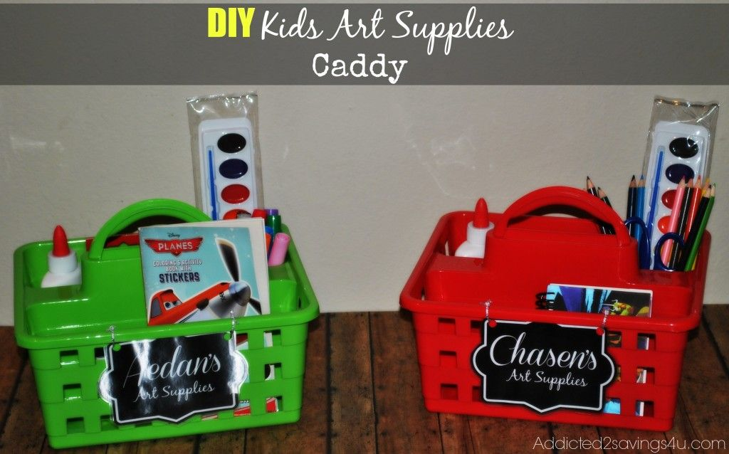 Diy Kids Art Supply Caddy From Dollar Tree Diy Dollartree Crafts