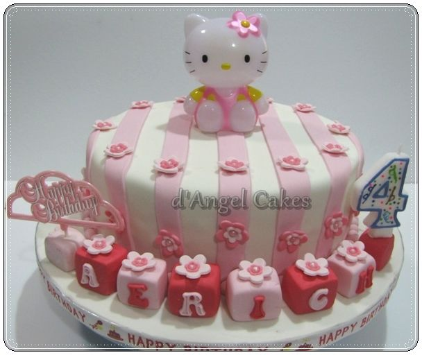 Hello Kitty Party Supplies Cake Used the real Hello Kitty topper