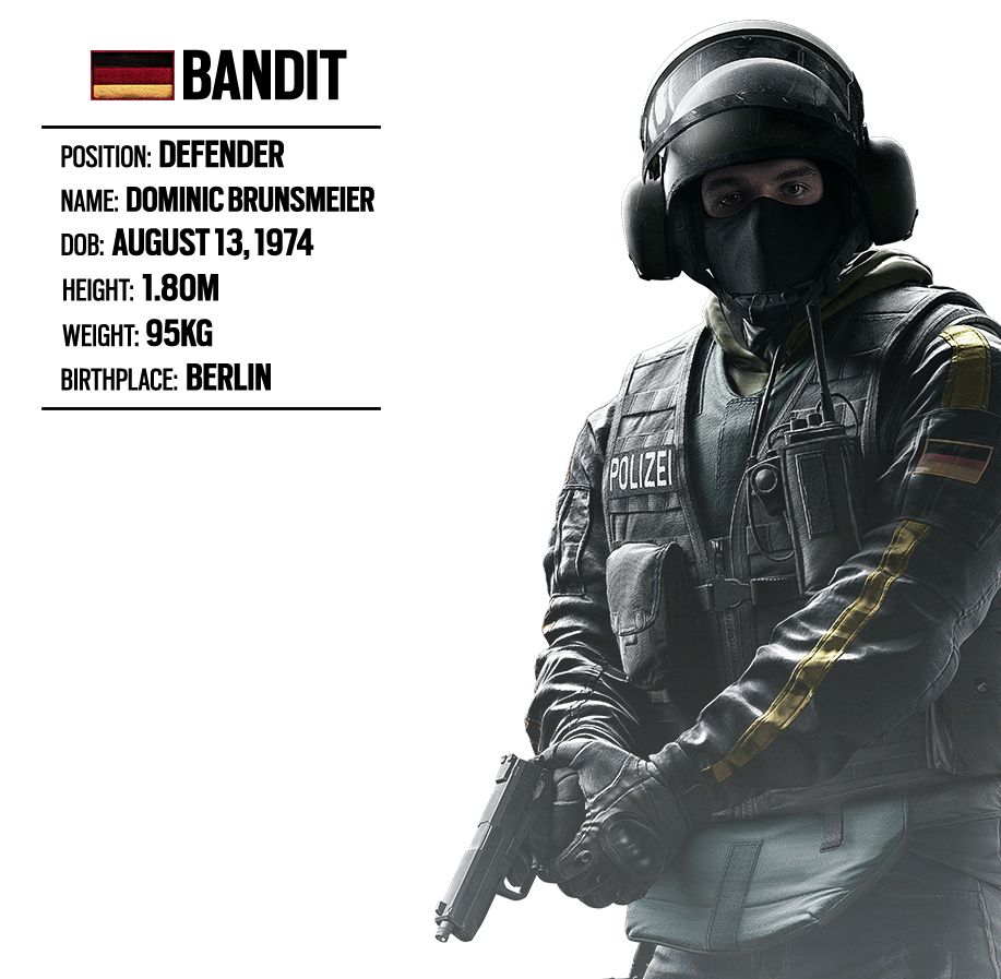 OPERATOR SPOTLIGHT 15 BANDIT (GERMAN UNIT) Rainbow Six