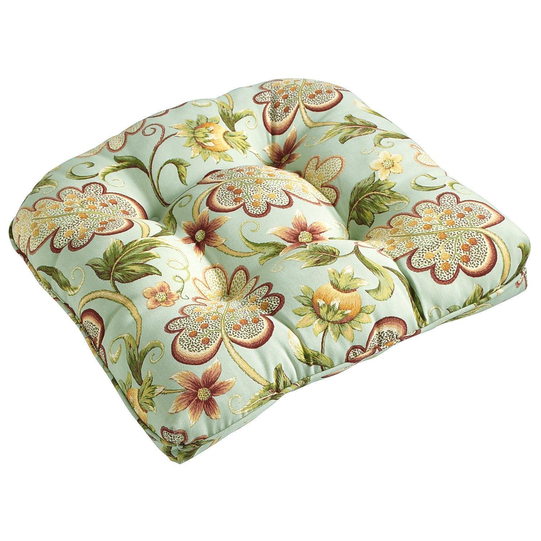 Standard Contour Chair Cushion In Angelique Blue Chair Cushions Patio Furniture Cushions Indoor Chair Cushions