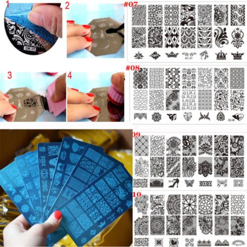 Useful diy nail art #image stamp #stamping plates manicure template 10 #design ne,  View more on the LINK: http://www.zeppy.io/product/gb/2/361441608510/