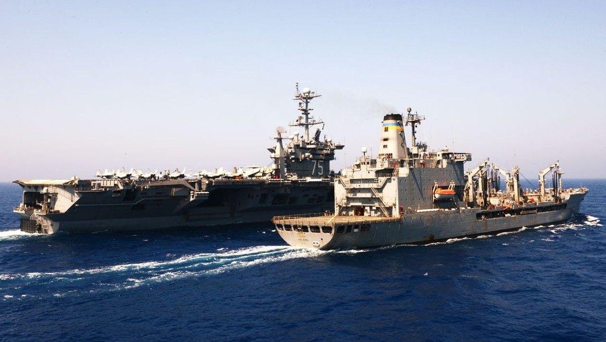USS Harry S. Truman - Den amerikanske marinen ser mot nord. - Foto: US NAVY / AFP