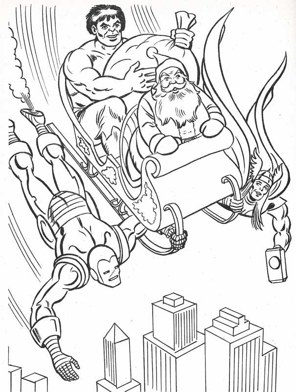 Pin By Spetri Marvel Comics On Christmas Christmas Coloring Books Superhero Christmas Christmas Coloring Pages