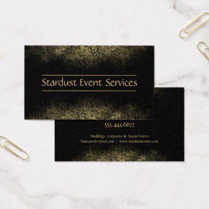 Modern Black Gold Business Card Template Gold Wedding