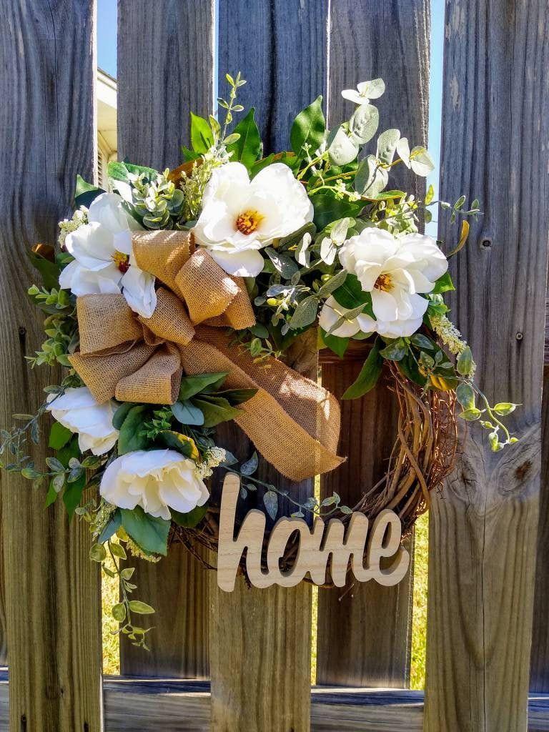 Photo of Magnolia Wreath,Spring Wreath,Front Door Decor,Everyday Wreath,Summer Wreath,Magnolia Farmhouse Wreath,Best Selling Wreath,Year Round Wreath