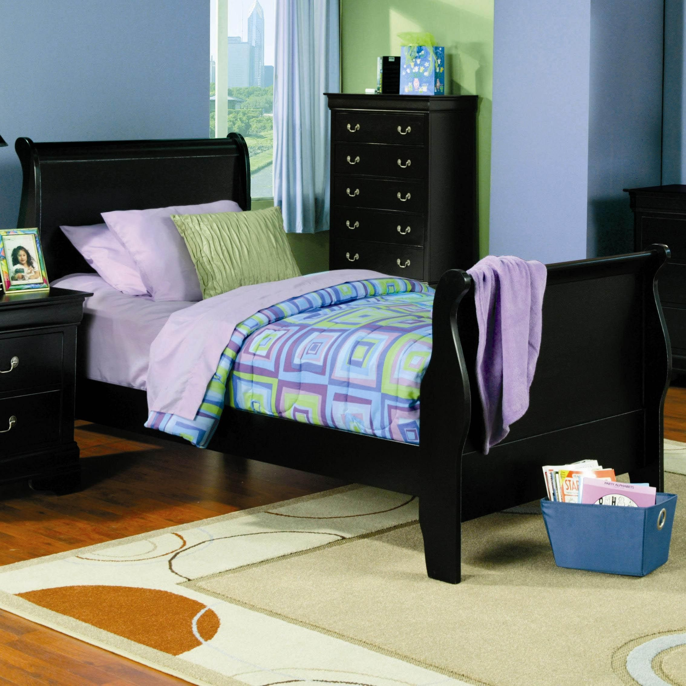 - Louis Philippe Twin Sleigh Bed By Coaster Bedroom Furniture