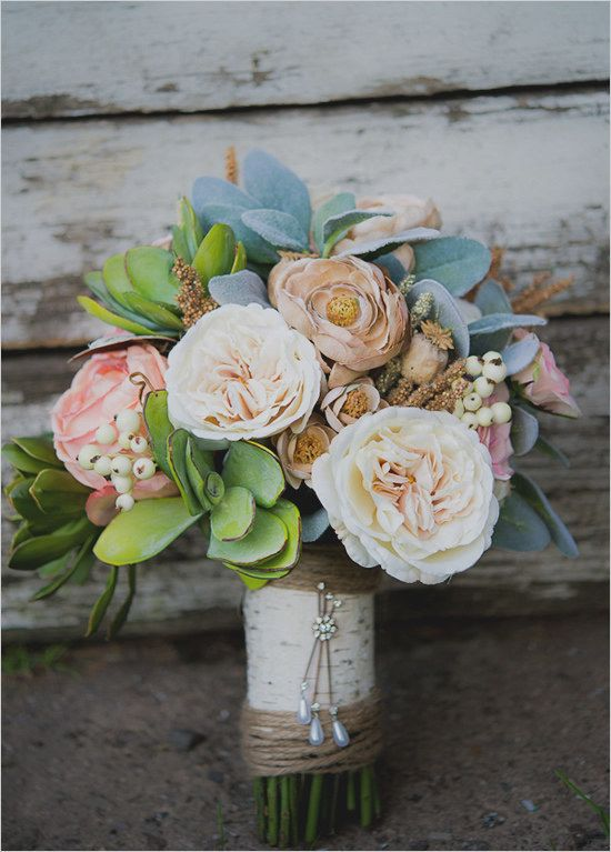 21 Stunning Nontraditional Wedding Bouquets | Faux flowers ...