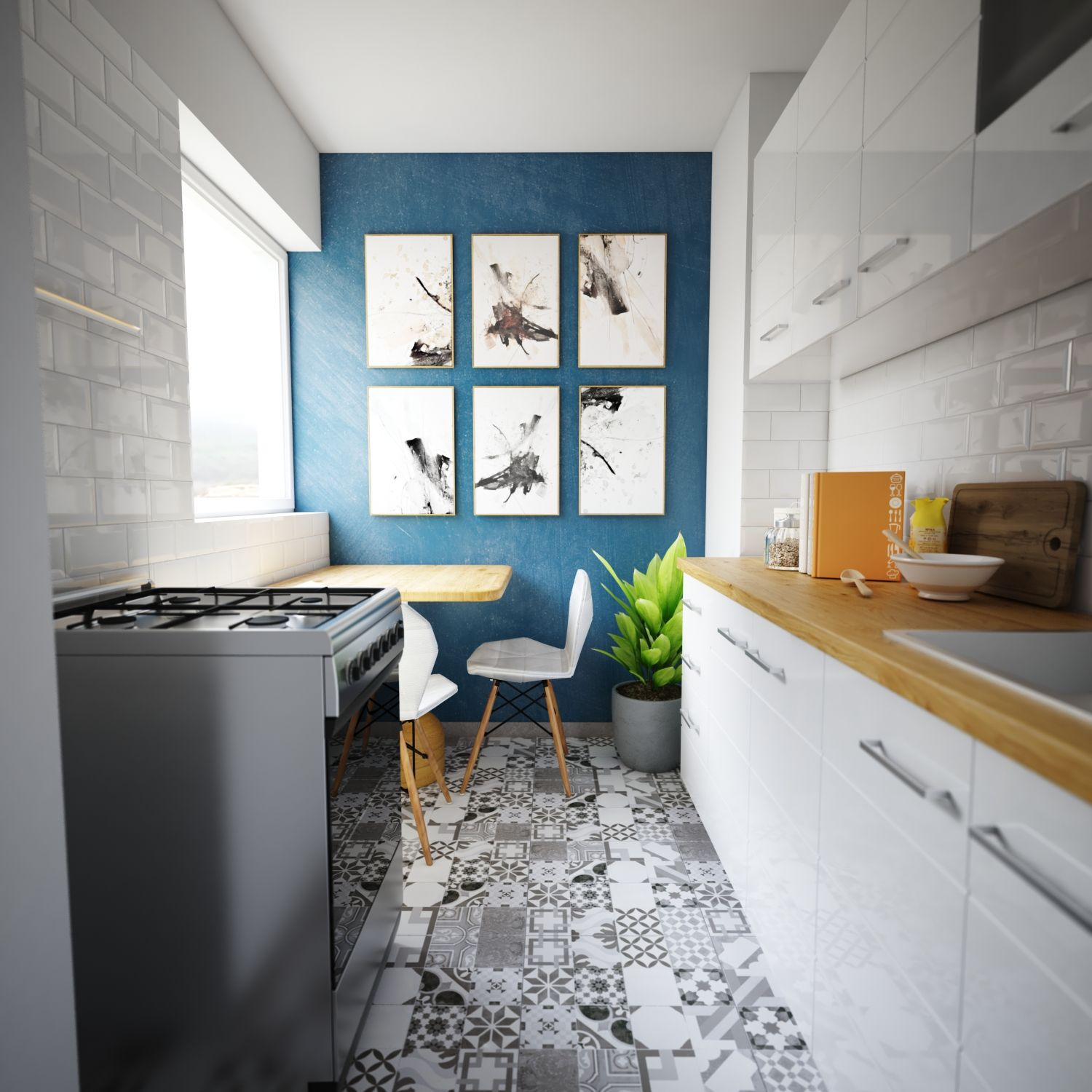 Cgi Render Very Small Kitchen For A Studio Apartment On A Very Tight Budget For A Fiend 1500x1500 Https Small Kitchen Apartment Kitchen Compact Kitchen
