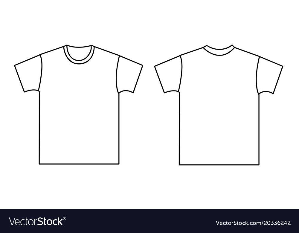 Download Blank T Shirt Template Front And Back Download A Free Preview Or High Quality Adobe Illustrator Ai Eps Pdf And Hig Shirt Template Blank T Shirts Tee Shirts