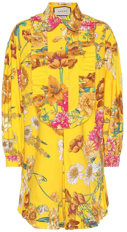 0e4889ce182e79 Gucci Floral-printed cotton shirt in 2019 | Products | Floral prints ...