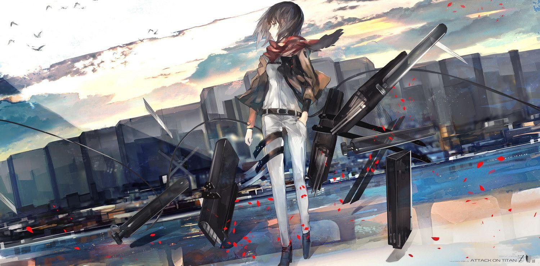 Mikasa. Attack On Titan - Shingeki No Kyojin
