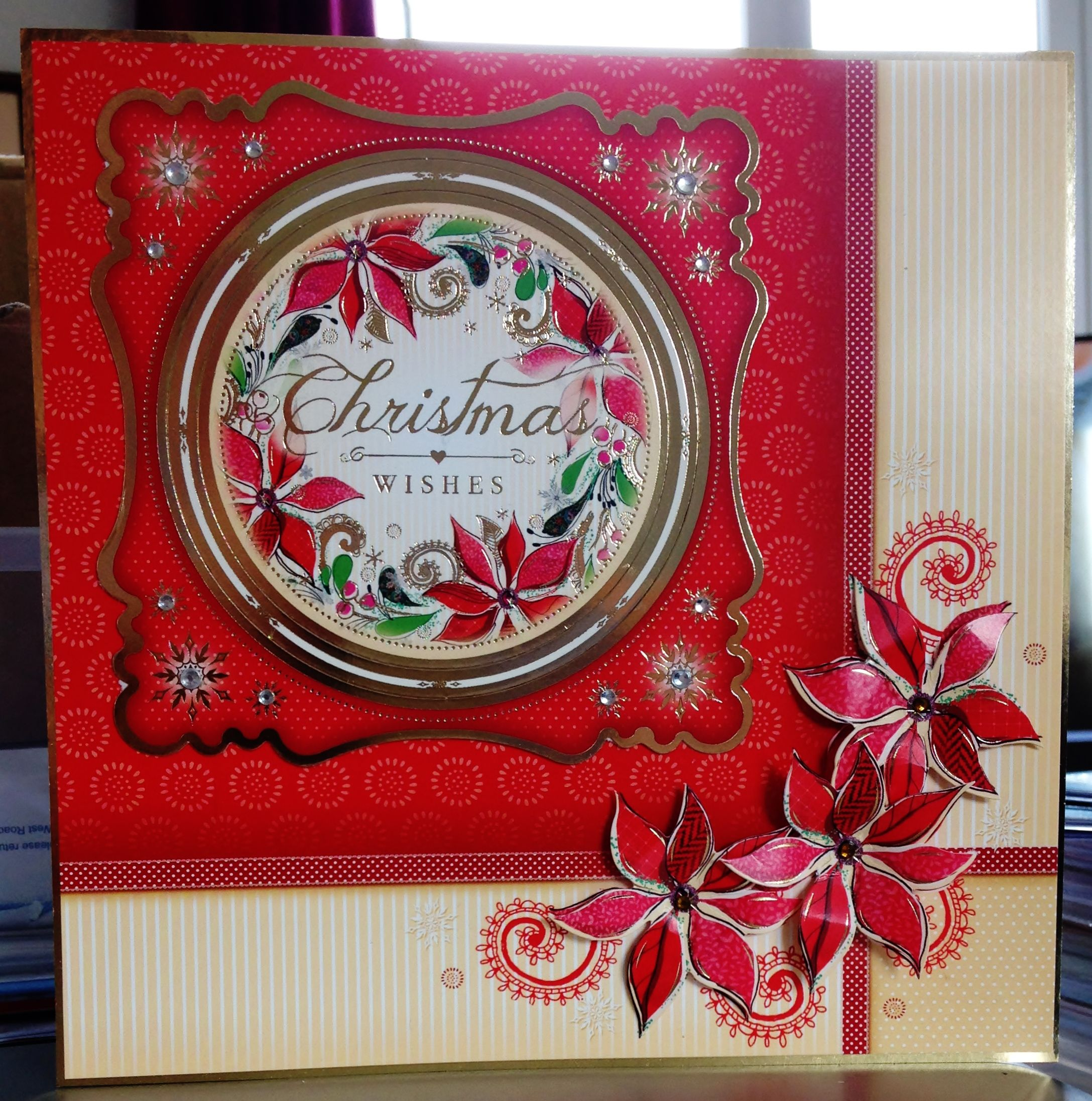 (175) Christmas Card (8ins x 8ins) makings from Hunkydory