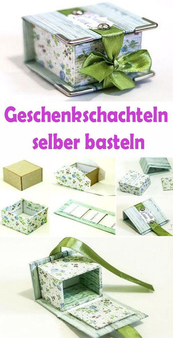 Geschenkschachteln selber basteln – Kostenlose DIY Vorlagen #geschenkboxbasteln