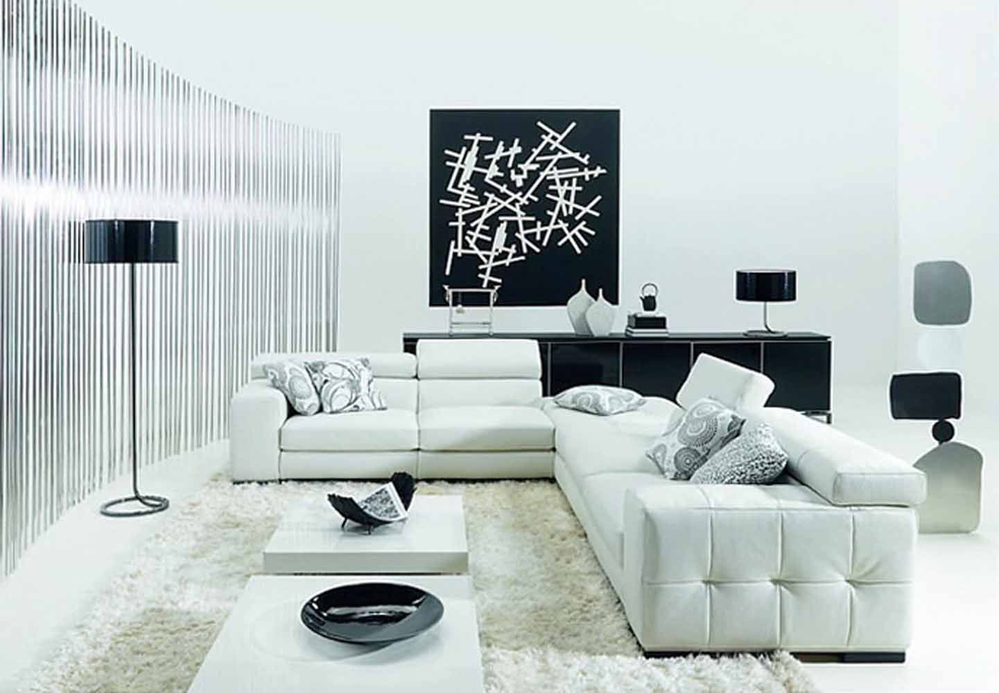 Modern Minimalist Black And White Living Room Design Photo Black And White Living Room Minimalist Living Room Modern White Living Room #white #living #room #accessories