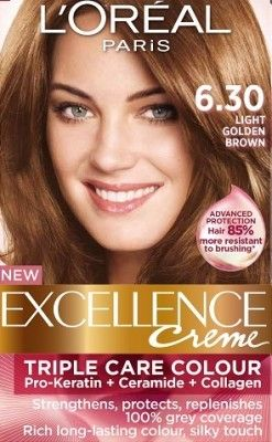 Loreal Excellence Creme 6 30 Light Golden Brown