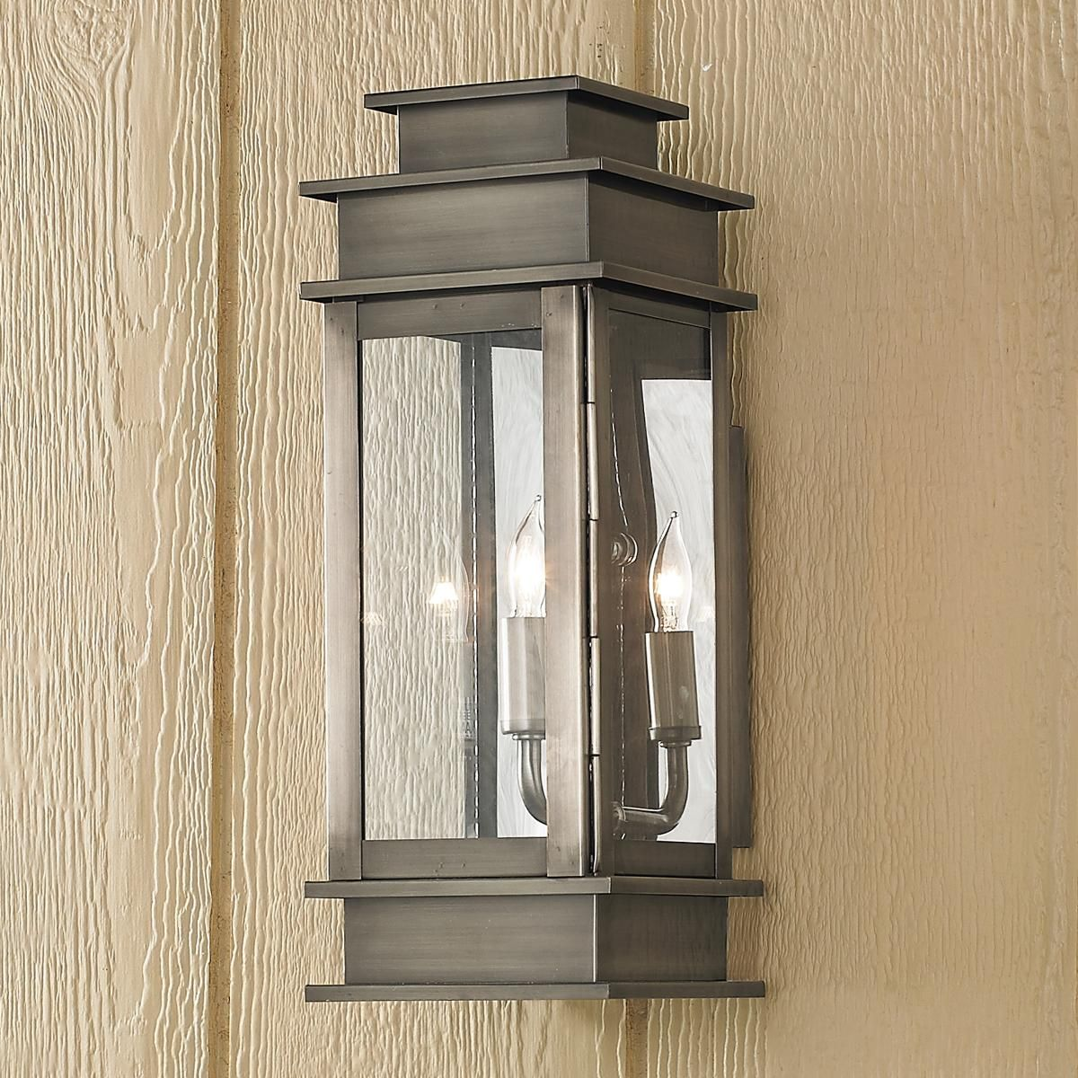 Rectangular step outdoor light small outdoor walls pewter and