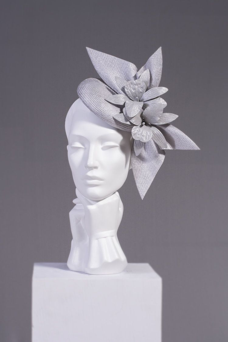 SS17/17 ORCHID SIDEBOW DISC Fascinator, Fancy hats