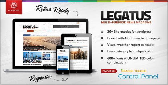 buy news template  Legatus - Responsive News/Magazine Template Download | ThemeForest ...