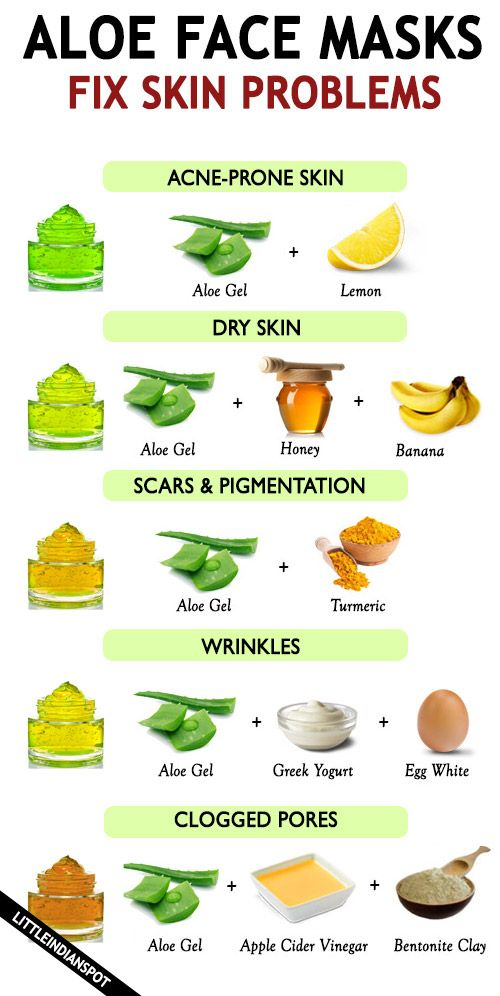 Aloe vera face mask diy glowing skin