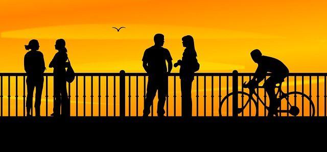 Free Image On Pixabay Bridge Sunset People Dusk Urban Preguntas Al Azar Puestas De Sol Siluetas