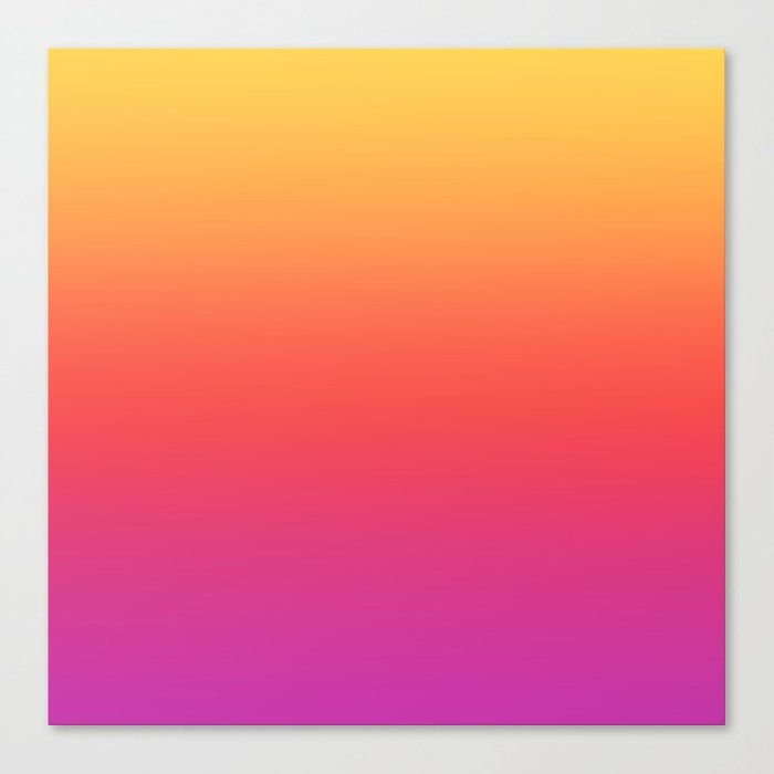 Ombre Colorful Summer Gradient Pattern Canvas Print by Art Prints, Patterns & Textures - Medium