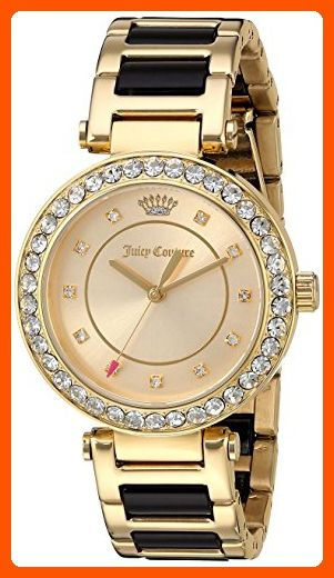 Juicy Couture Women's 'Cali' Quartz Gold-Tone and Ceramic Casual WatchMulti Color (Model: 1901422) - All about women (*Amazon Partner-Link)