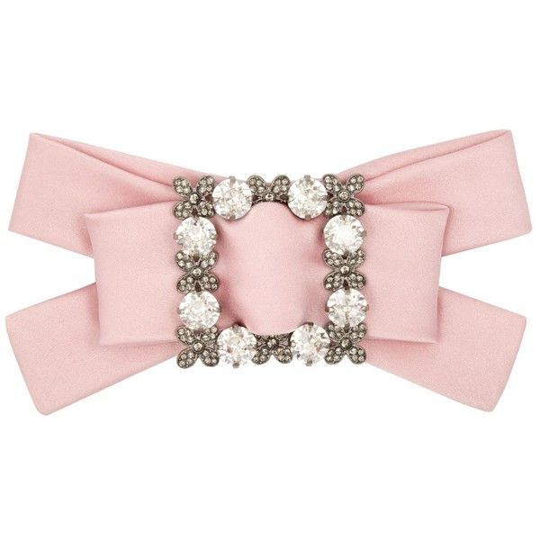 Dolce & Gabbana Crystal-embellished silk-satin hair clip ($845) ❤ liked on Polyvore featuring accessories, hair accessories, flower hair clip, floral hair accessories, bow hair clips, floral hair clips and swarovski crystal hair accessories
