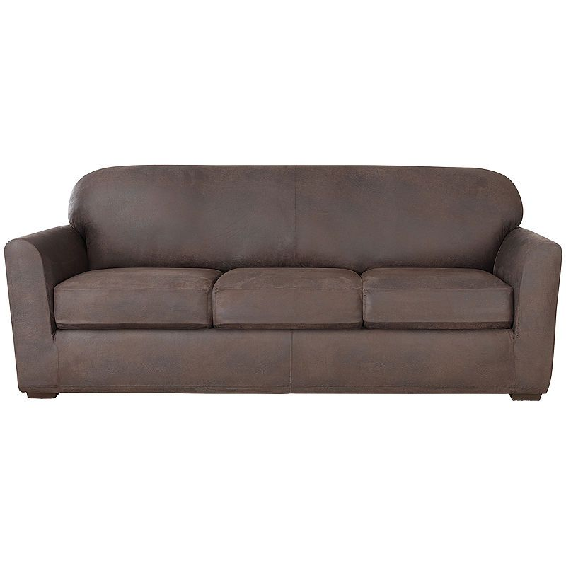 Sure Fit Ultimate Stretch Faux Leather 4 Pc Sofa Slipcover