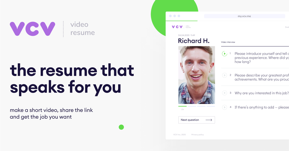 make a short video, share the link and get the job you