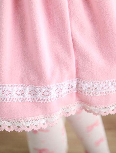 Milanoo / Jupe Lolita rose douse séduisante en coton impression avec dentelle