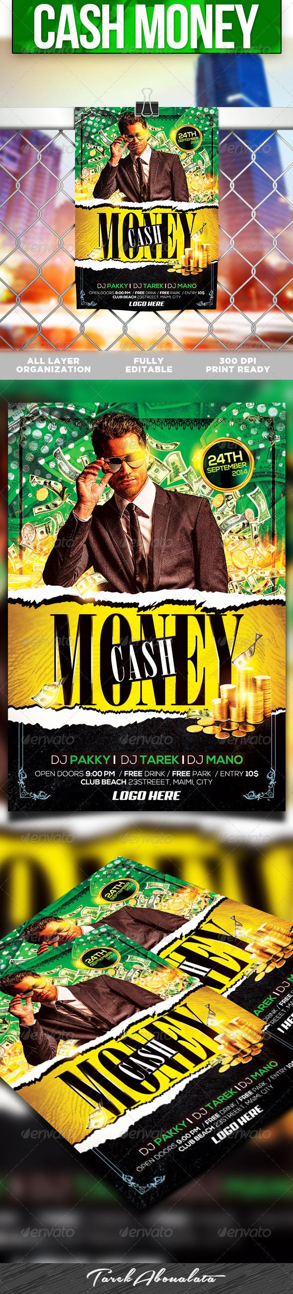 Cash Money Flyer Template V Fontslogosicons Pinterest Cash - Money flyer template