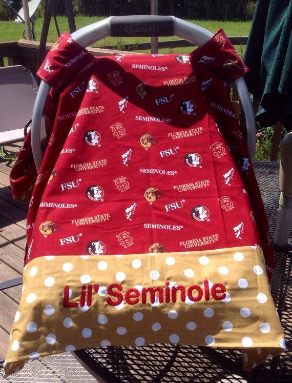FSU Seminoles Infant Seat Canopy/Car Seat/Tent Cover on Etsy $25.00 & FSU Seminoles Inspired Infant Seat Canopy/Car Seat/Tent Cover ...